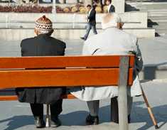 Two old men on bench